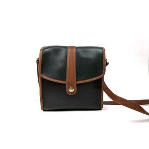 Vintage 70's Coach Green Leather Crossbody Bag